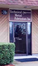 Technical Metal Fabricators, Inc. Main Entrance